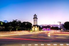 Башня с часами Nakorn Lampang стоковые фотографии rf
