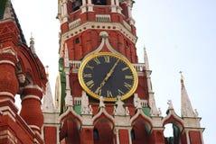 Башня с часами Spasskaya квадрат moscow красный Стоковое Изображение