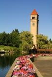 Башня с часами Spokane стоковые фотографии rf