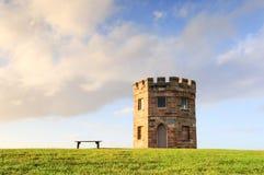 Башня таможен XIX века Perouse Ла на заходе солнца Стоковые Фото