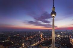 Башня ТВ Берлина на Alexanderplatz Стоковое Изображение RF