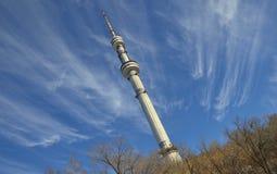 Башня ТВ в Алма-Ате Стоковое Изображение