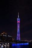Башня ТВ Гуанчжоу китайца новая, прозвище или наша талия Стоковые Изображения