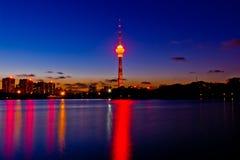 Башня ТВ Пекина Стоковая Фотография RF