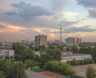 Башня 1 ТВ Ostankino Стоковая Фотография RF