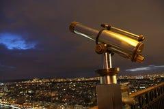 башня телескопа eiffel стоковое изображение rf