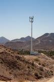 башня телефона горы пустыни клетки Стоковое фото RF