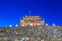 башня тибетца молитве стоковая фотография