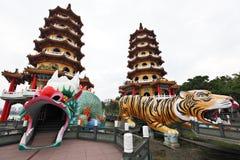 башня тигра дракона стоковое фото