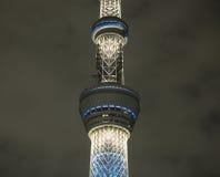 Башня токио дерева неба на ноче Стоковые Фото