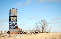 башня угольной шахты Стоковая Фотография