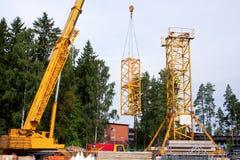 башня установки крана вверх Стоковые Изображения RF