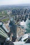 Башня факела Марины сняла от крыши башни принцессы, Дубай Стоковая Фотография