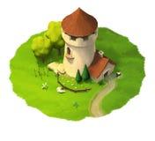 Башня фантазии иллюстрации Иллюстрация вектора