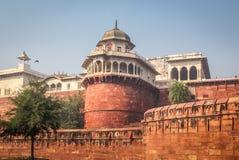 Башня форта Агры - Агра, Индия Стоковое Изображение RF
