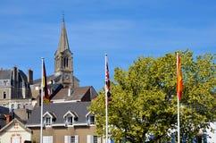 башня Франции церков колокола pornic Стоковые Изображения
