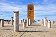 Башня Хасана в Рабате Марокко Стоковая Фотография