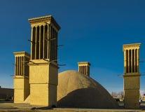Башня холодного ветера, Yazd, Иран Стоковые Изображения