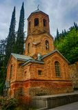 Башня церковного колокола Тбилиси Mamadaviti стоковое изображение