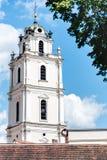 Башня церковного колокола St. Johns университета Вильнюса Стоковые Фотографии RF