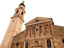 Башня церков Беллуно прописная стоковая фотография rf