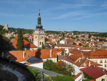 Башня церков Wenceslas Святого в Mikulov стоковые фото
