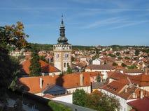 Башня церков Wenceslas Святого в Mikulov стоковое изображение rf