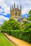 Башня часовни коллежа Merton Оксфордский университет, Оксфорд, Engla Стоковая Фотография RF