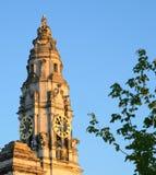 Башня часов ратуши города Кардиффа стоковое фото rf