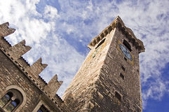башня часов средневековая Стоковое Фото