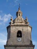 башня часов церков колокола Стоковая Фотография