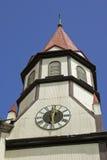 башня часов церков старая Стоковая Фотография RF