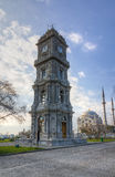 Башня часов Dolmabahce, Стамбул, Турция Стоковые Фото