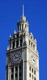 башня часов wrigley здания Стоковая Фотография