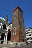Башня части Girone базилики Palladiana Стоковое Изображение RF