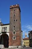 Башня части Girone базилики Palladiana Стоковое Изображение