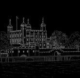 Башня чертежа Лондона Стоковые Изображения