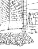 башня шаржа Стоковые Изображения