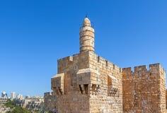 Башня Давида в Иерусалиме, Израиле Стоковое Изображение