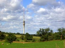 Башня 02 телевидения Dresdener Стоковое Изображение RF