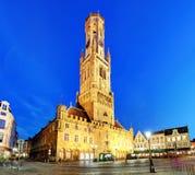 Башня, aka Бельфор колокольни, Брюгге, средневековая колокольня внутри Стоковое Фото