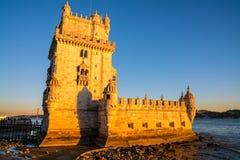 Башня Belem на Реке Tagus Стоковые Изображения