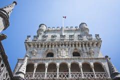 башня belem lisboa Стоковое фото RF
