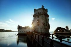 башня belem lisbon Португалии Стоковое Изображение
