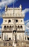 башня belem lisbon Португалии Стоковое Изображение RF