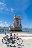 башня belem lisbon Португалии Стоковые Фотографии RF