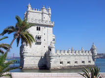 башня belem lisbon Стоковая Фотография