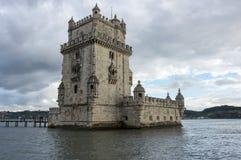 башня belem lisbon стоковое изображение