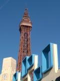 башня blackpool стоковая фотография rf