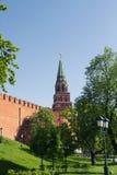 Башня Borovitskaya Москва Кремль Стоковые Фото
